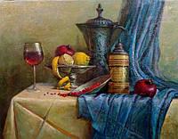 """Картина маслом на холсте """"Натюрморт с фруктами"""""""