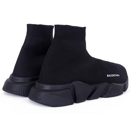 Кроссовки Унисекс Balenciaga Speed Trainer All Black Черные, фото 2