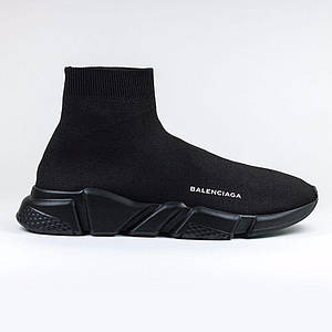 Кроссовки Мужские Balenciaga Speed Trainer All Black Черные