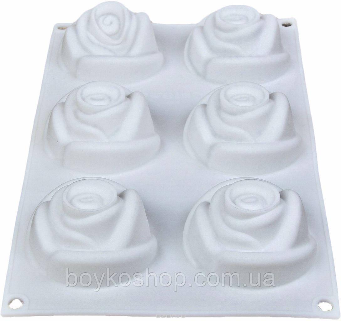 Форма силиконовая для евроторта 6 роз