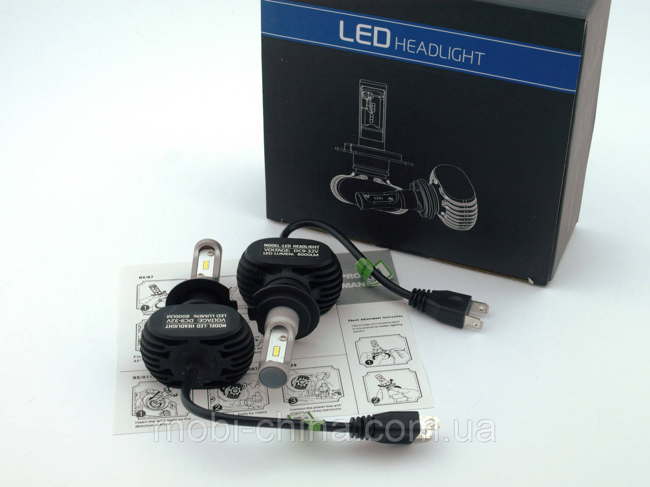 S1 LED H7 автомобильные лампы  Headlight Car Lamp 8000lm 6500K 50W DC9-32V