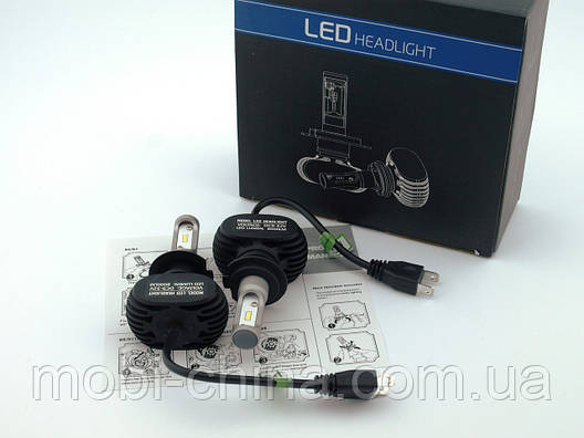 S1 LED H7 автомобильные лампы  Headlight Car Lamp 8000lm 6500K 50W DC9-32V, фото 2