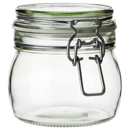 КОРКЕН Банка с крышкой, прозрачное стекло, 0.5 л 70213545 IKEA, ИКЕА, KORKEN, фото 2