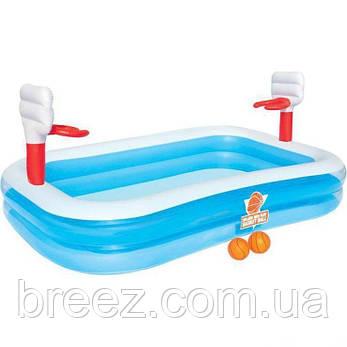 Детский надувной бассейн Bestway Баскетбол 254 х 168 х 102 см, фото 2