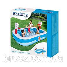 Детский надувной бассейн Bestway Баскетбол 254 х 168 х 102 см, фото 3