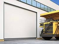 Промышленные секционные ворота из алюминиевых панелей ISD03 4000\5000мм