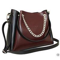 Женская 511 сумка черная бордо
