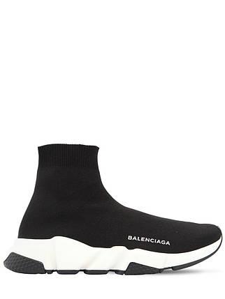 Кроссовки Женские Balenciaga Speed Trainer Black/White/Black, фото 2