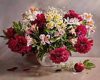 Алмазная вышивка на подрамнике Свежесть весенних цветов 40 х 50 см (арт. TN703)