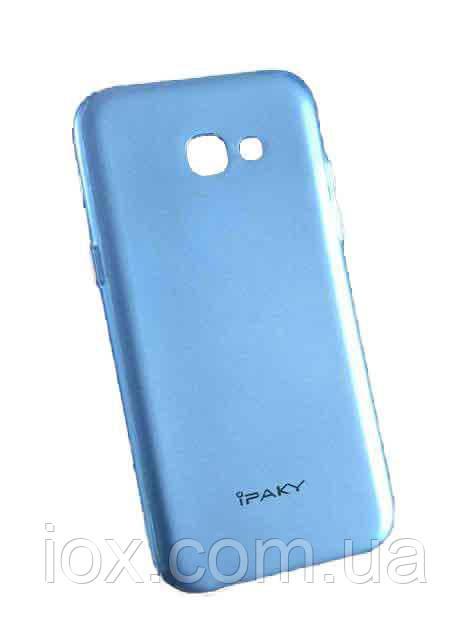 М'який чохол накладка IPAKY для Samsung Galaxy A5 2017 / A520 Синій металік