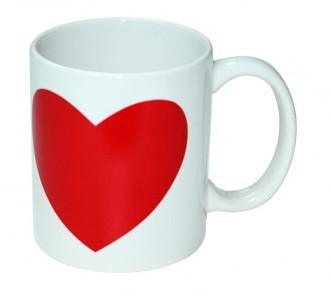 Кружка с частичной сменой цвета Красное Сердце
