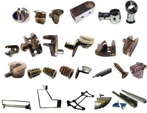 Кріплення для скла, полиць, тощо
