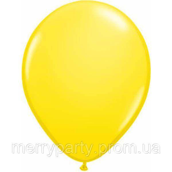 """11"""" (28 см) пастель желтый Yellow Qualatex США латексный шар"""