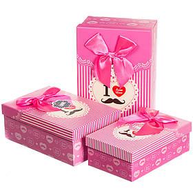 Набор подарочных коробок 3 шт. Нежная любовь 0653J /pink