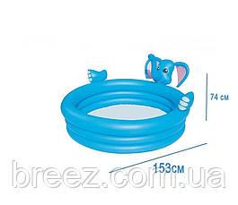 Детский надувной бассейн BestWay Слоник с фонтаном 152 х 152 х 74 см, фото 2