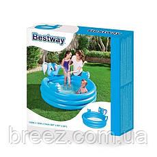 Детский надувной бассейн BestWay Слоник с фонтаном 152 х 152 х 74 см, фото 3