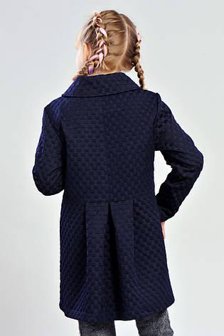 Пальто демисезонное для девочек 122-140 роста Роза, фото 2