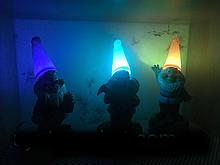 Декоративний Садовий світильник на сонячній батареї RGB CAB87 ЕЛЬФИ