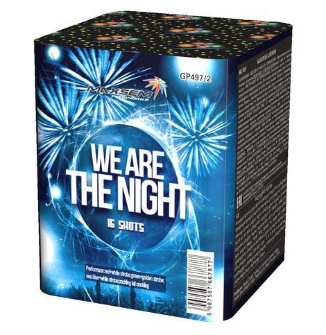 Фейерверк \ Салютная установка WE ARE THE NIGHT Вкус ночи Калибр 20мм \ 16 выстрелов GP497/2