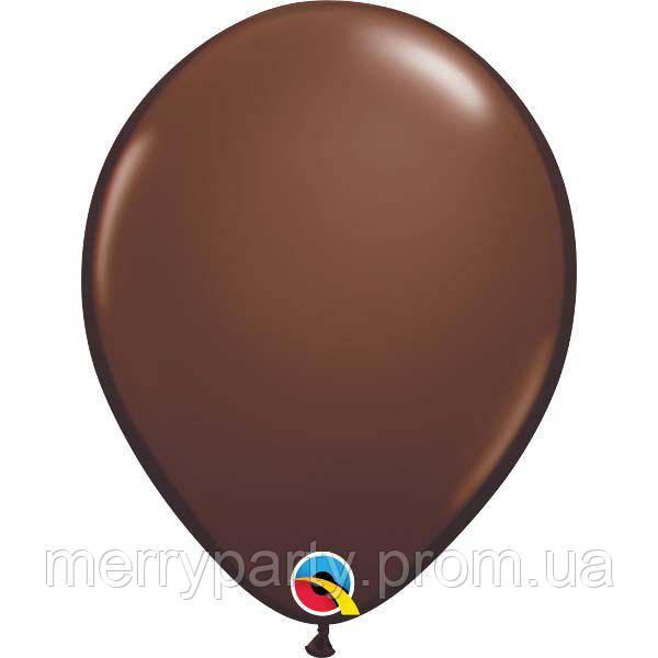 """11"""" (28 см) пастель шоколадный Chocolate Brown Qualatex США латексный шар"""