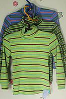 Водолазка рубчик на мальчика, детский трикотаж р.24-34 28, Зеленый
