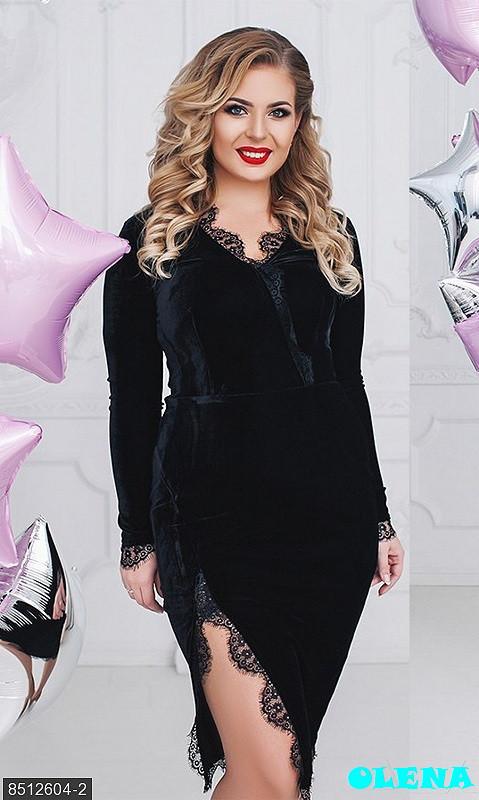 fa094a97111 Силуэтное бархатное платье с кружевом  продажа