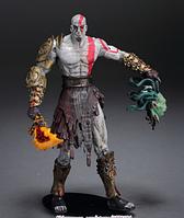 Фигурка Кратос с головой Горгоны 18 см. В блистере Бог войны God of War Kratos NECА, фото 1
