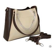 Женская 511 сумка  коричнево бежевая