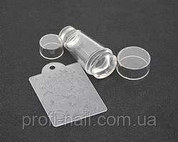 Печать силиконовая с трафаретом прозрачная двухсторонняя
