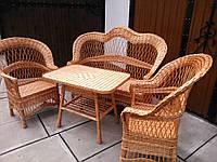"""Комплект мебели из лозы """"Капля №2"""", фото 1"""