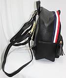 Сумка рюкзак модный женский городской (черный), фото 2