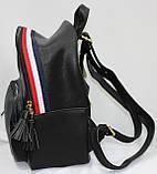 Сумка рюкзак модный женский городской (черный), фото 4