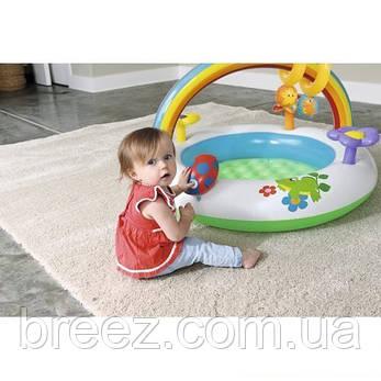 Детский надувной центр Bestway Радуга 94 х 56 см с игрушками, фото 2