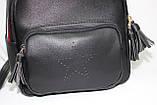 Сумка рюкзак модный женский городской (черный), фото 5