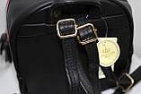 Сумка рюкзак модный женский городской (черный), фото 6