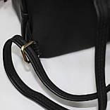 Сумка рюкзак модный женский городской (черный), фото 7