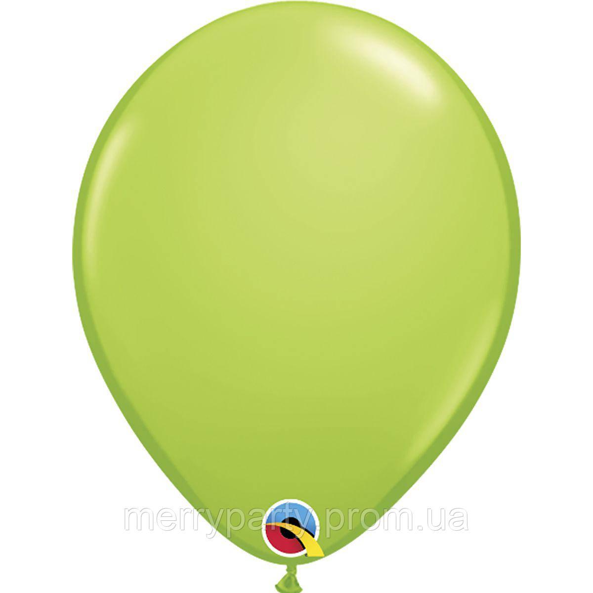 """11"""" (28 см) пастель салатовый Lime Green Qualatex США латексный шар"""