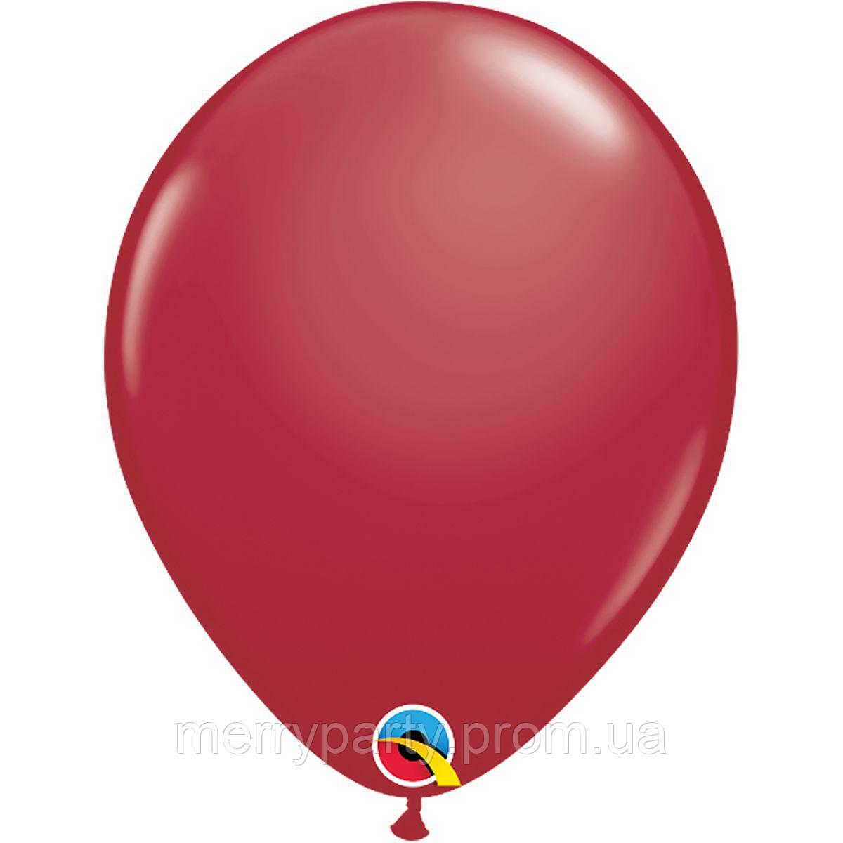 """11"""" (28 см) пастель бордовый Maroon Qualatex США латексный шар"""