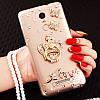 """LG G7 ThinQ оригінальний чохол накладка на бампер панель зі стразами камінням на телефон """"ROYALER"""", фото 3"""