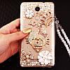 """HONOR V20 оригинальный чехол накладка бампер панель со стразами камнями на телефон """"ROYALER"""", фото 7"""