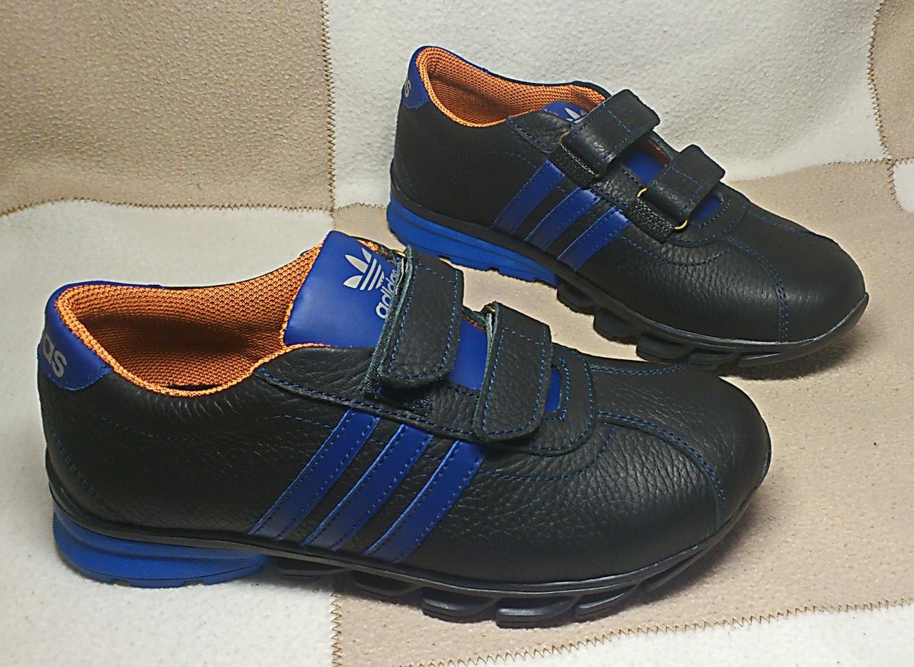Кожаные кроссовки, копия Adidas, р. 39 (25,5 см)