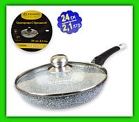 Сковорода EDENBERG EB 9166 24 см / 2.1 л с крышкой