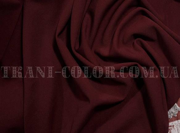 Трикотаж креп- дайвинг бордовый, фото 2