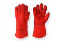 Рукавиці робочі краги зварювальні червоні розмір 14