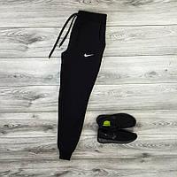 Спортивные штаны мужские на весну черные найк/Nike реплика, фото 1