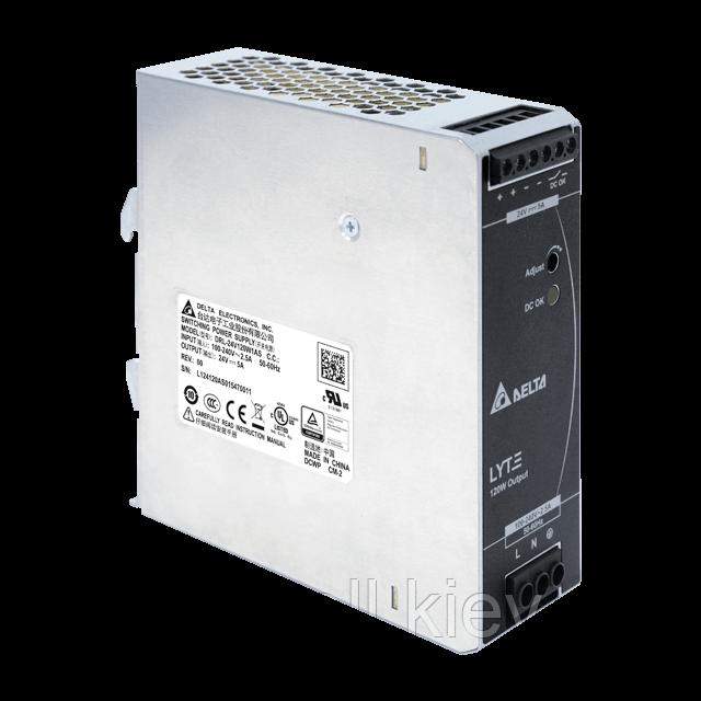 DRL-24V120W1AS Блок питания на Din-рейку Delta Electronics 24В, 5A