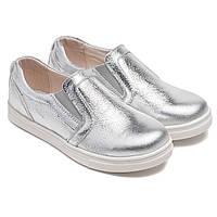 Кожаные туфли - слипоны FS Сollection для девочки, размер 20-30, фото 1