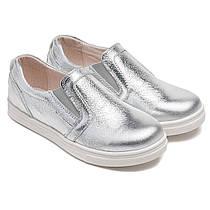 Кожаные туфли - слипоны FS Сollection для девочки, размер 20-30