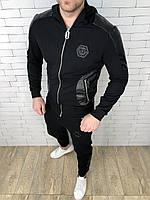 Спортивный костюм Philipp Plein D2801 черный с капюшоном, фото 1