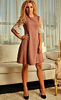 """Женское легкое платье """"Марго"""" (кофе)"""